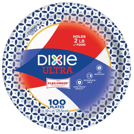 Dixie Ultra Paper Dinner Plates 10 1 16 Inch 100 Count Size 16 Inch In 2019 Disposable Plates Plates Dinner Plates