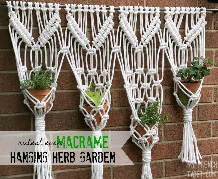 macrame hanging herb garden - My French Twist