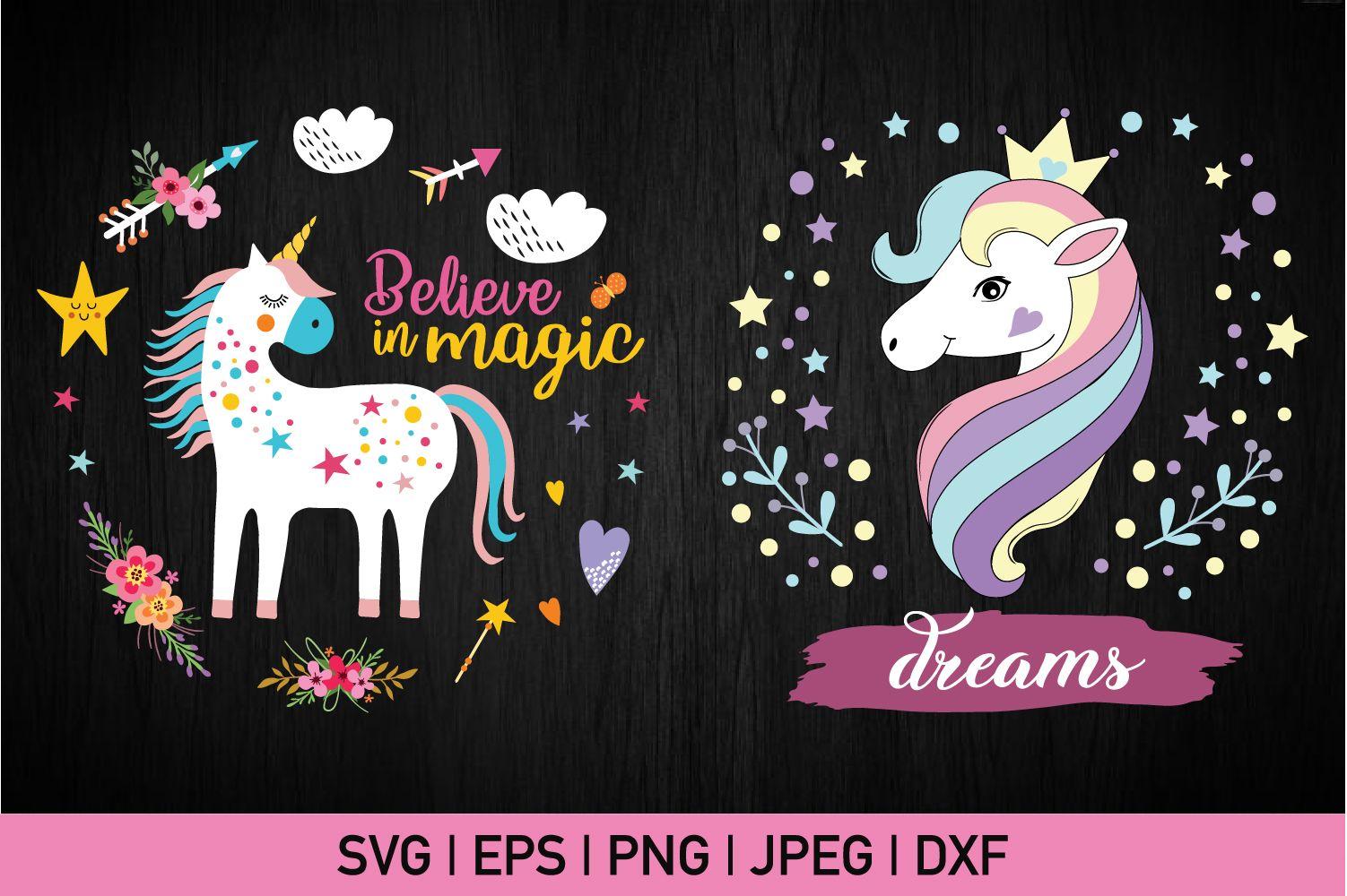 I Believe In Magic Beautiful Unicorn Graphic By Crazypandasvg Creative Fabrica