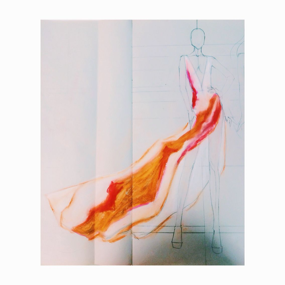 Cascading canyon silk gown by evelette evelettesilks for the full