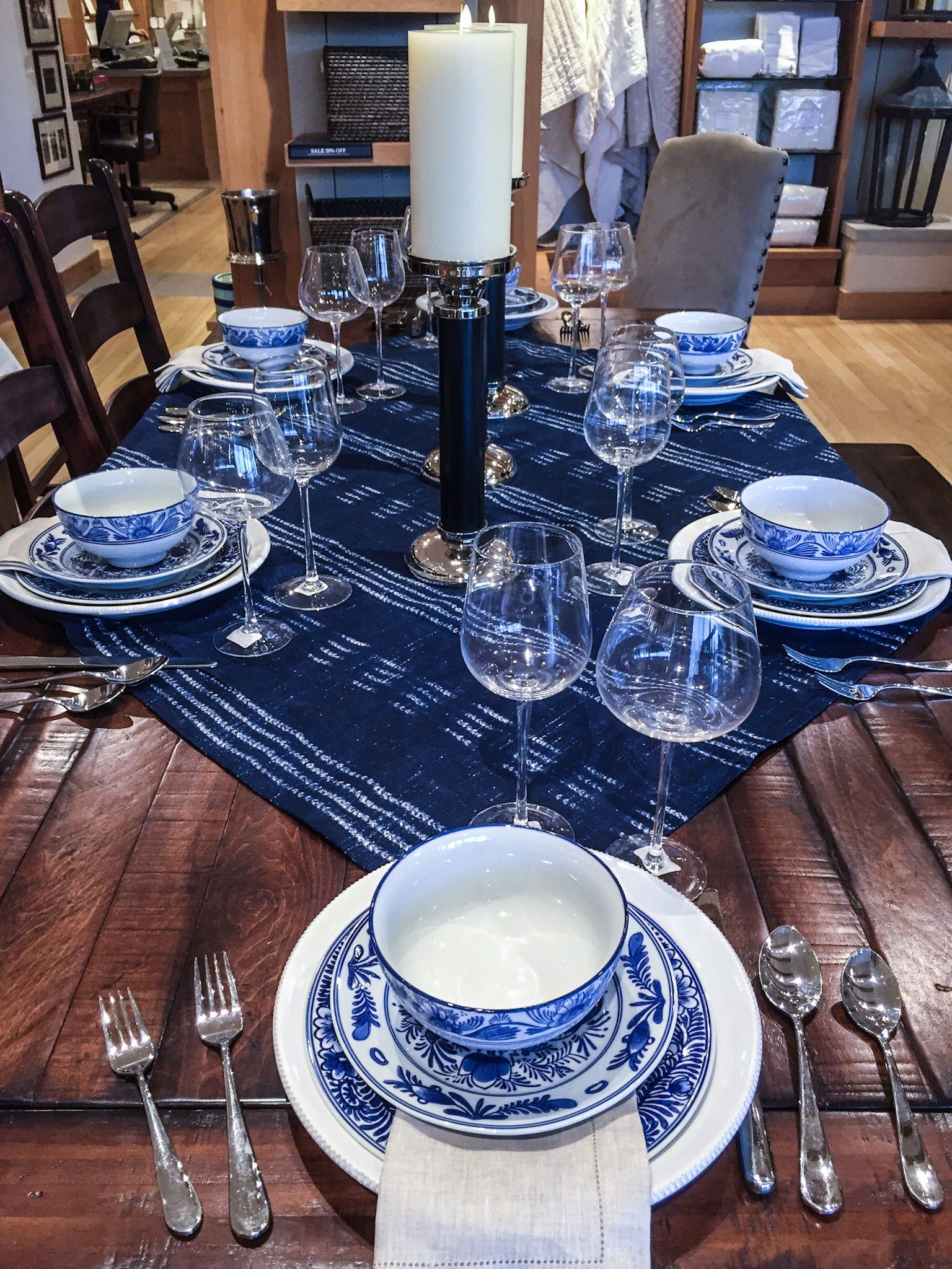 Awesome Ethnic Trending: Hmong Inspired Indigo Table Top @ Pottery Barn.