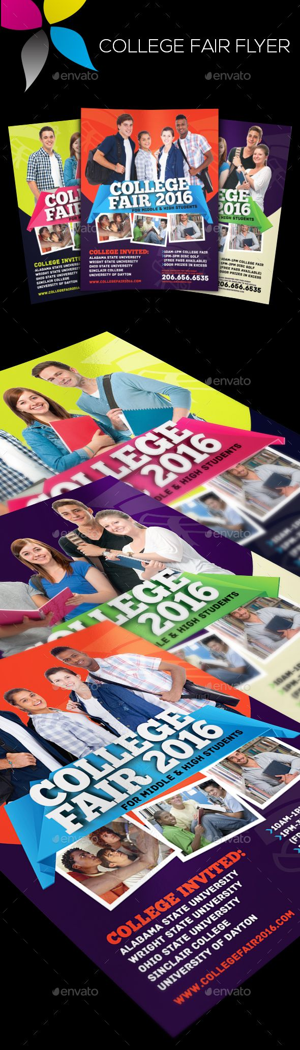 college fair flyer template psd design download http
