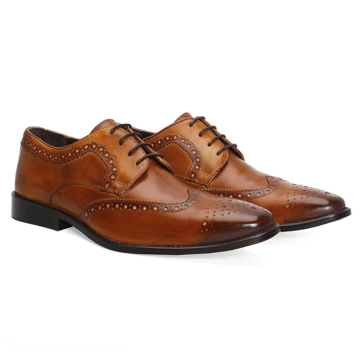 later finest selection quality products Buy online #BRUNE HAND FINISHED TAN LEATHER FORMAL #SHOES ...