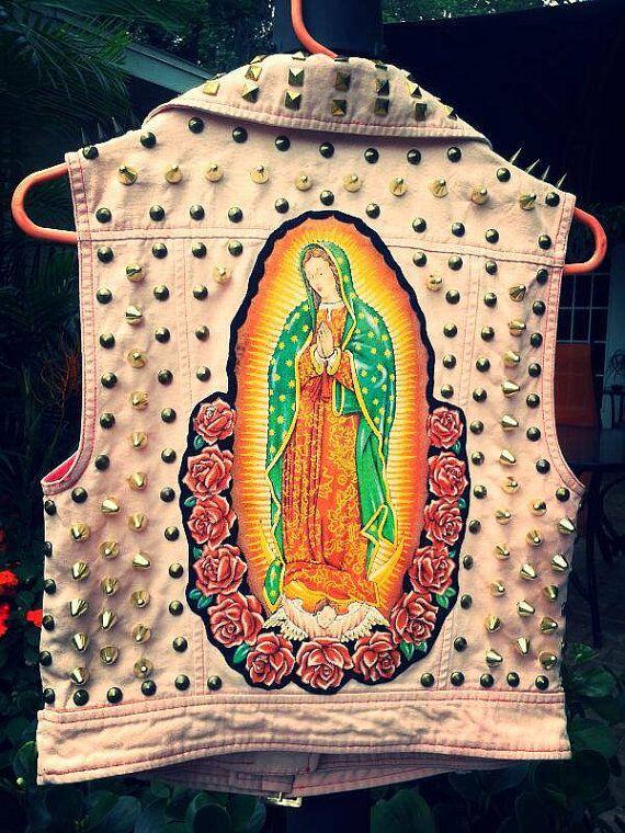 ec6e24375 Virgen de Guadalupe punk vest mexican fashion punk fashion patches ...