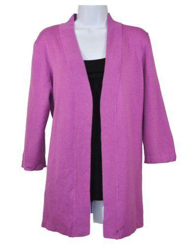 NEW Spring & Mercer Womens Purple Cardigan Sweater size Medium ...