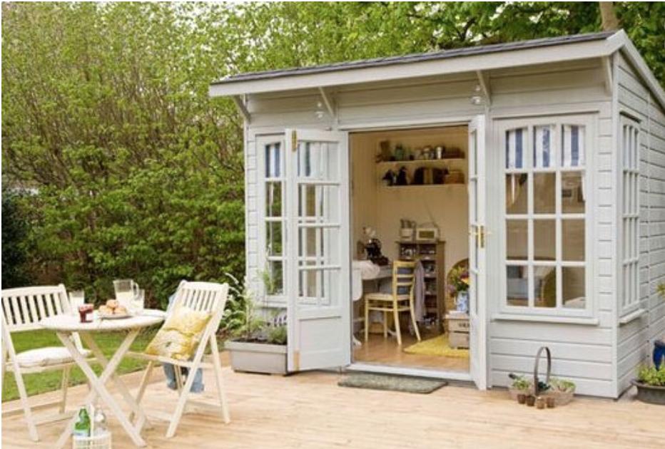 Betty's Backyard Oasis -   14 garden house office ideas