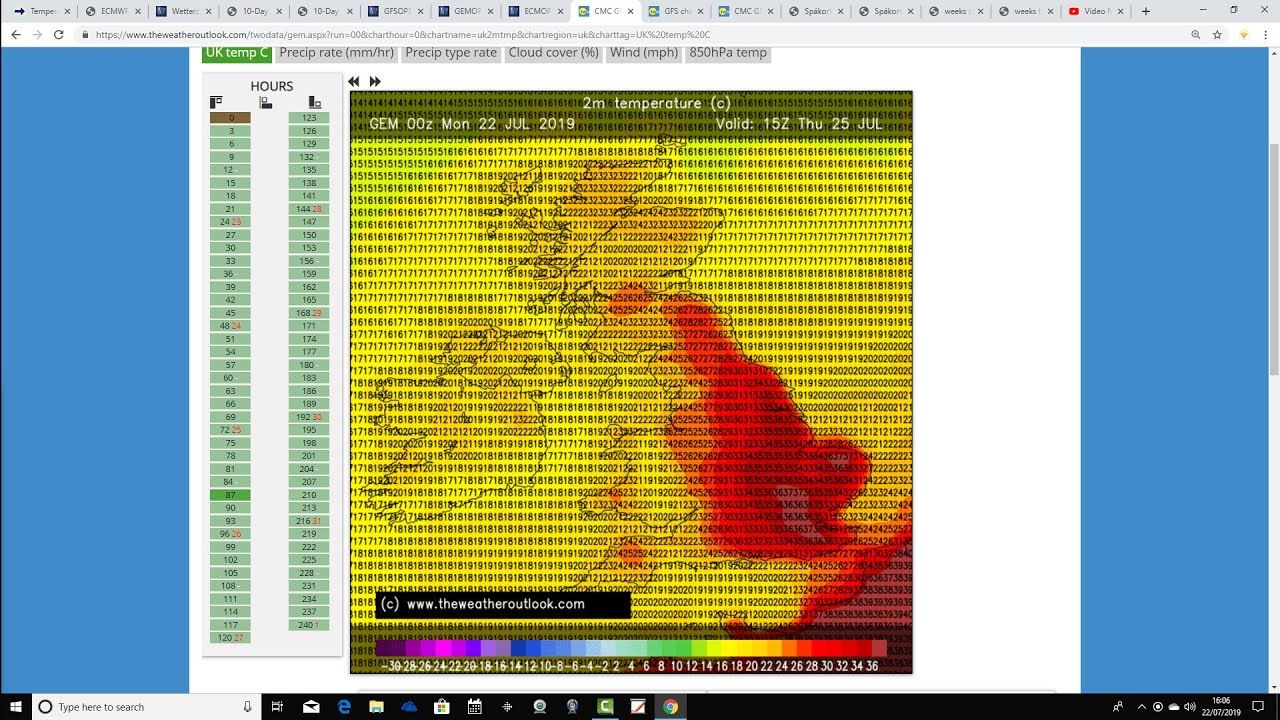 Record Breaking Heat Possible This Week 22 07 19 Solar Activity Records Uk Weather
