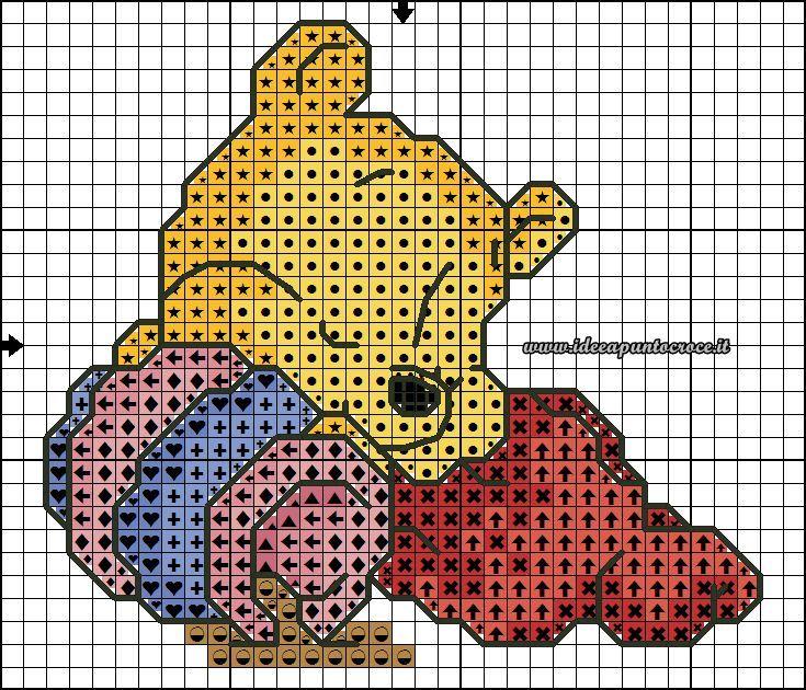 8afa39571 schema baby winnie 30 punti | PDC Disney | Cross stitch baby, Cross ...