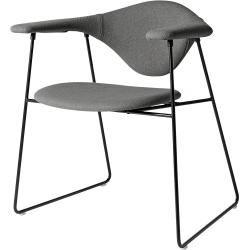 Photo of Tessuto Gubi Masculo Lounge Stuhl, dunkelgrau (Remix 143), schwarze Struktur Gubi