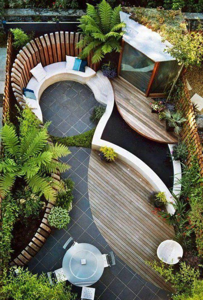 idee-amenagement-jardin-avec-meubles-d-extérieur-en-bois-pour-le ...