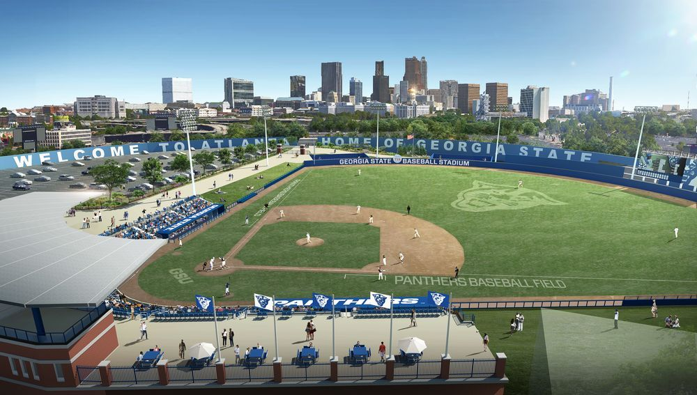 Renderings For Gsu S New Turner Field Stadium Are Spectacular Optimistic Turner Field Atlanta Braves Baseball Stadium
