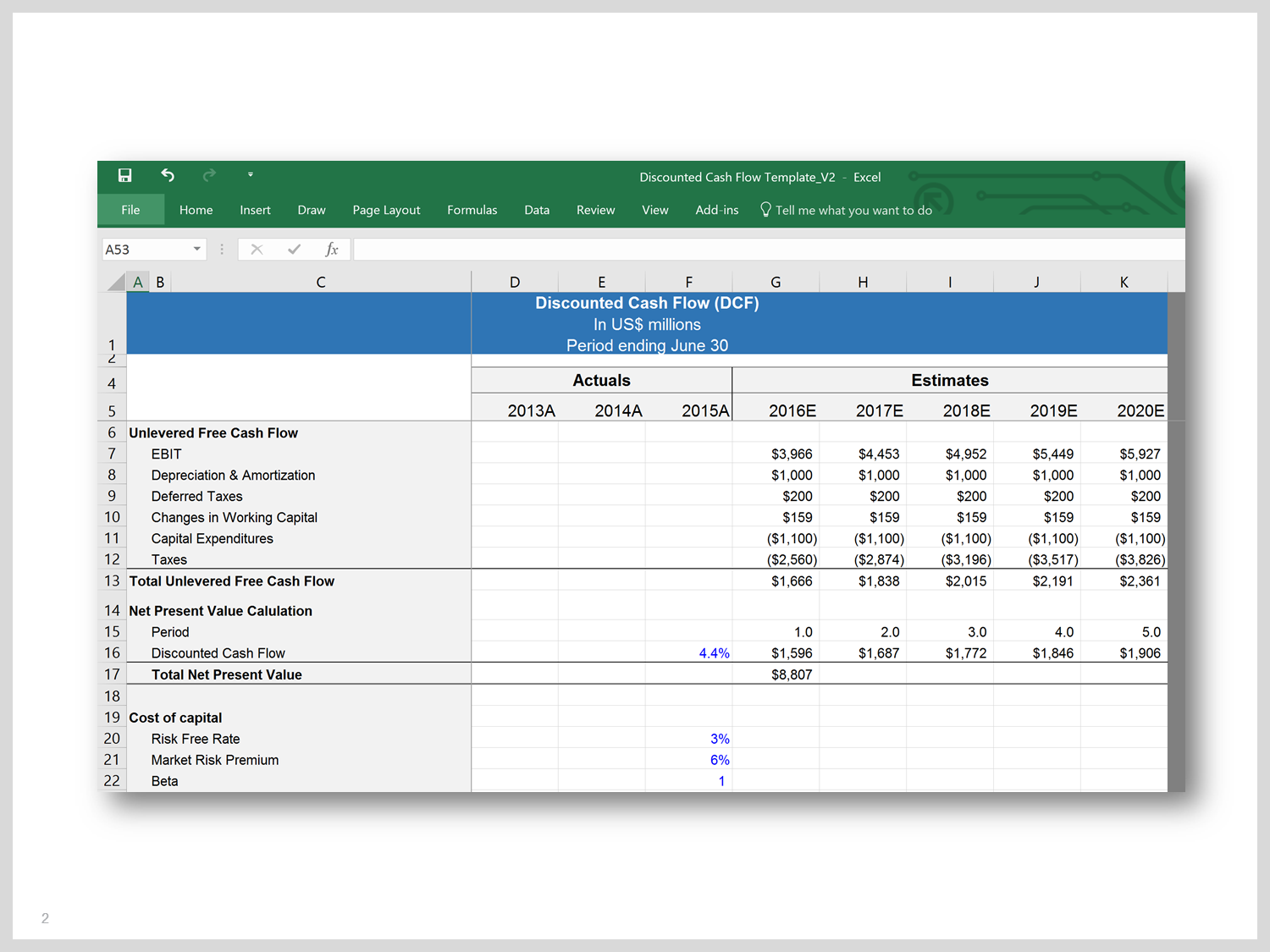 Financial Statement Forms Templates Cool Dcf Model Template In Excel  Financial Statement Template And Cash .