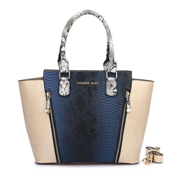 Alexander Black Rocco Navy Blue Shoulder Bag