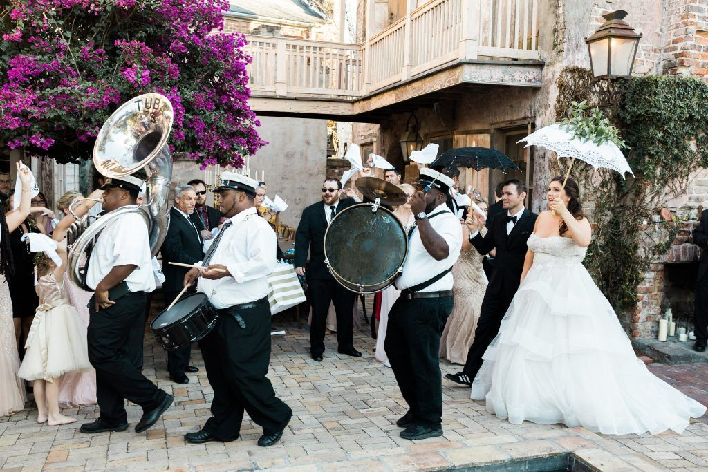 New Orleans Second Line Photo Carolyn Seibert New Orleans Wedding Second Line Parade Wedding