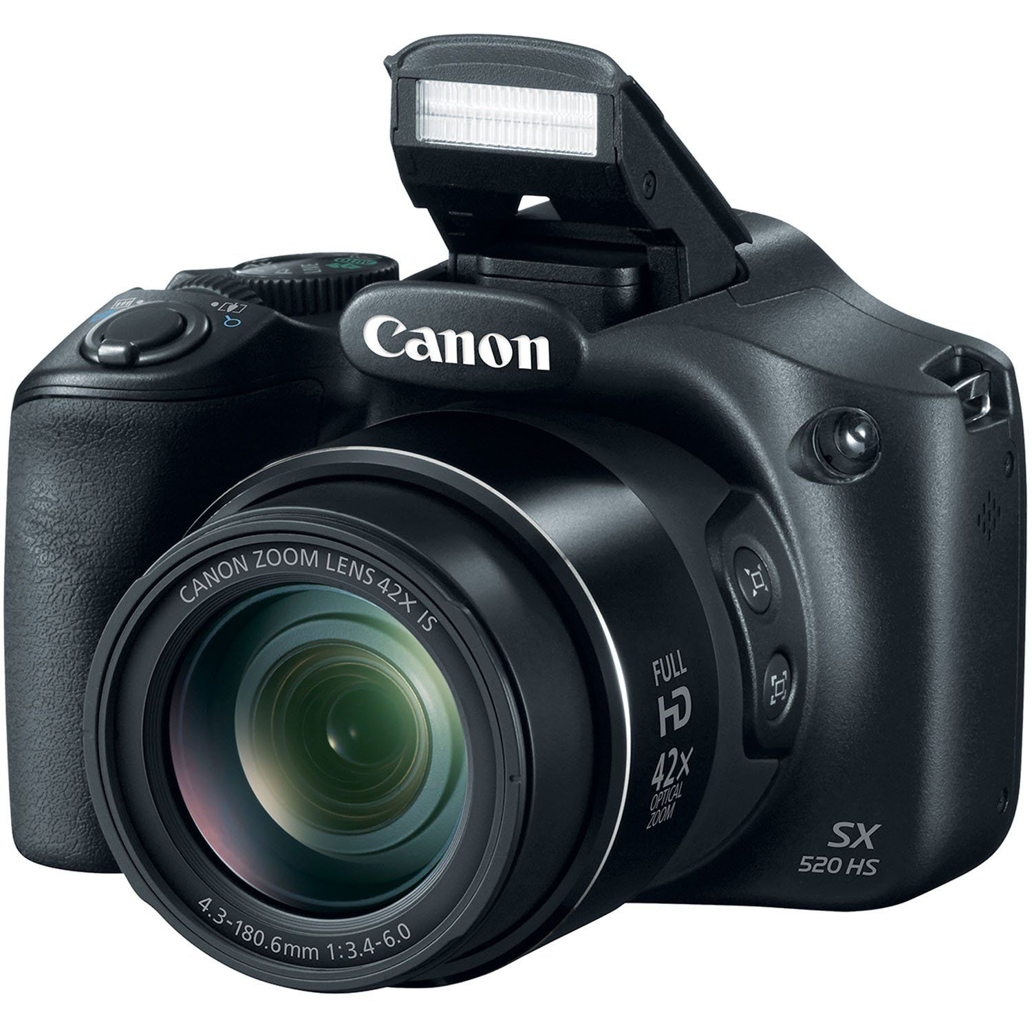 Canon Powershot Sx520 16digital Camera With 42x Optical Image Stabilized Zoom With 3 Inch Lcd Black By Canon Canon Powershot Best Digital Camera Powershot