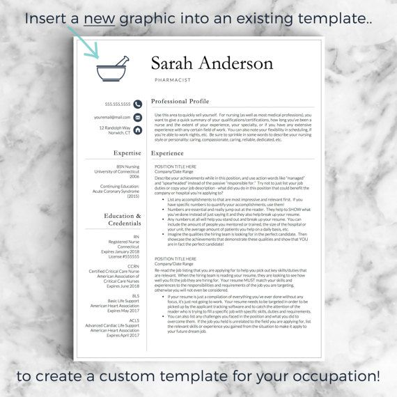 Custom Resume Template  Custom Resume Design For Word  Pages