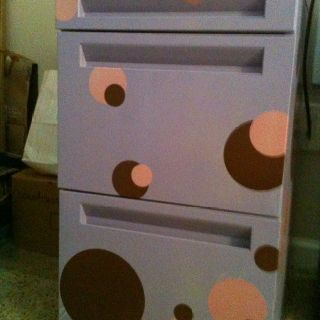 file cabinet i spray painted an old metal filing cabinet and then rh pinterest com