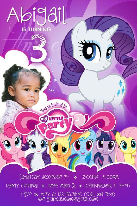 My Little Pony 2 Rarity Birthday Printable By Partydesignsdiy My Little Pony Birthday Little Pony Birthday Party Little Pony Party