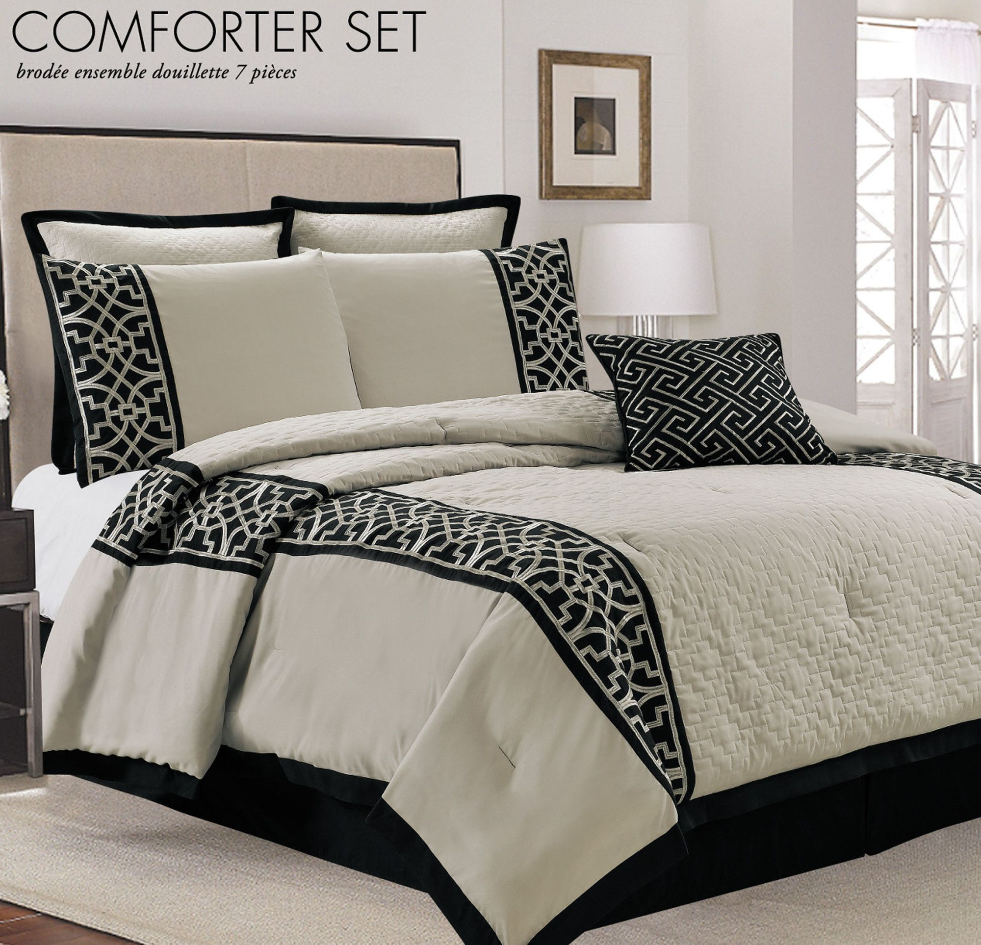 Bestickte Bettwäsche Lazio 7 Piece Comforter Set Products Pinterest