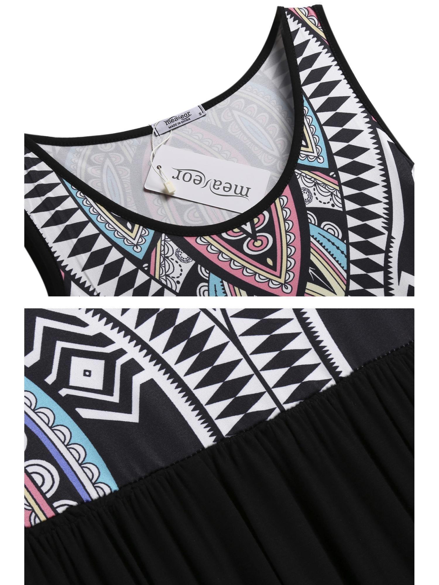2ff16ed64c8 Women Summer Beach Print Sleeveless Tank Top Long Maxi Dress STDTE Summer