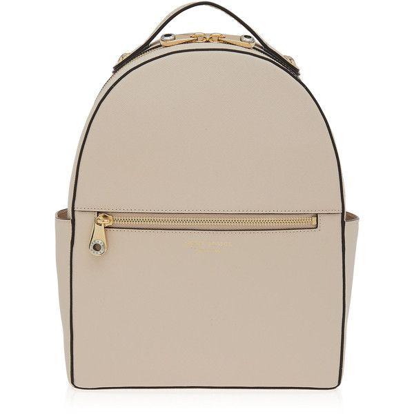 Henri Bendel West 57th Backpack ($298) ❤ liked on Polyvore featuring bags, backpacks, beige, knapsack bags, zip handle bags, henri bendel, day pack backpack en zipper bag