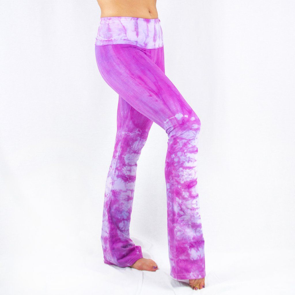 fab9a5a087b2b Raspberry Lilac Yoga Pants by Akasha Sun, Hand Dyed Clothing Made by Women  in Colorado