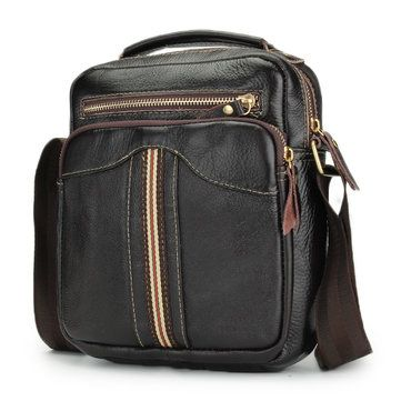 3ecd044894c Men Genuine Leather Crossbody Bag Leisure Retro Capacity Multifunction  Shoulder Bag