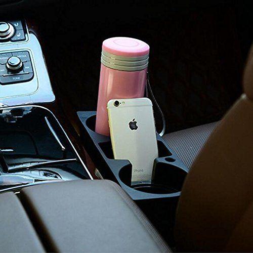 Black Gankarii® Car Seat Side Organiser Portable Phone Storage Drinking Bottle