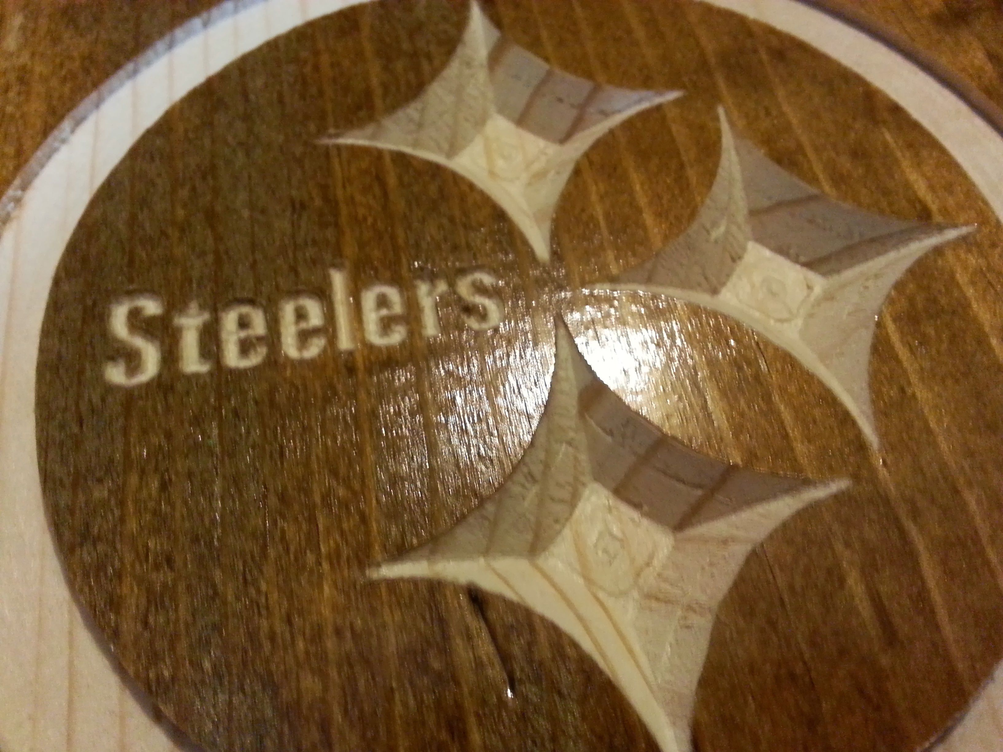 Steelers Man Cave Signs : Pittsburgh steelers cnc router machine steeler logo for
