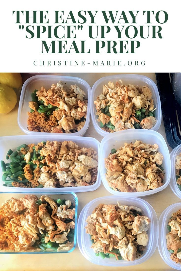 The Easy Way To Spice Up Your Meal Prep Meal Prep Meals Clean Eating Vegetarian