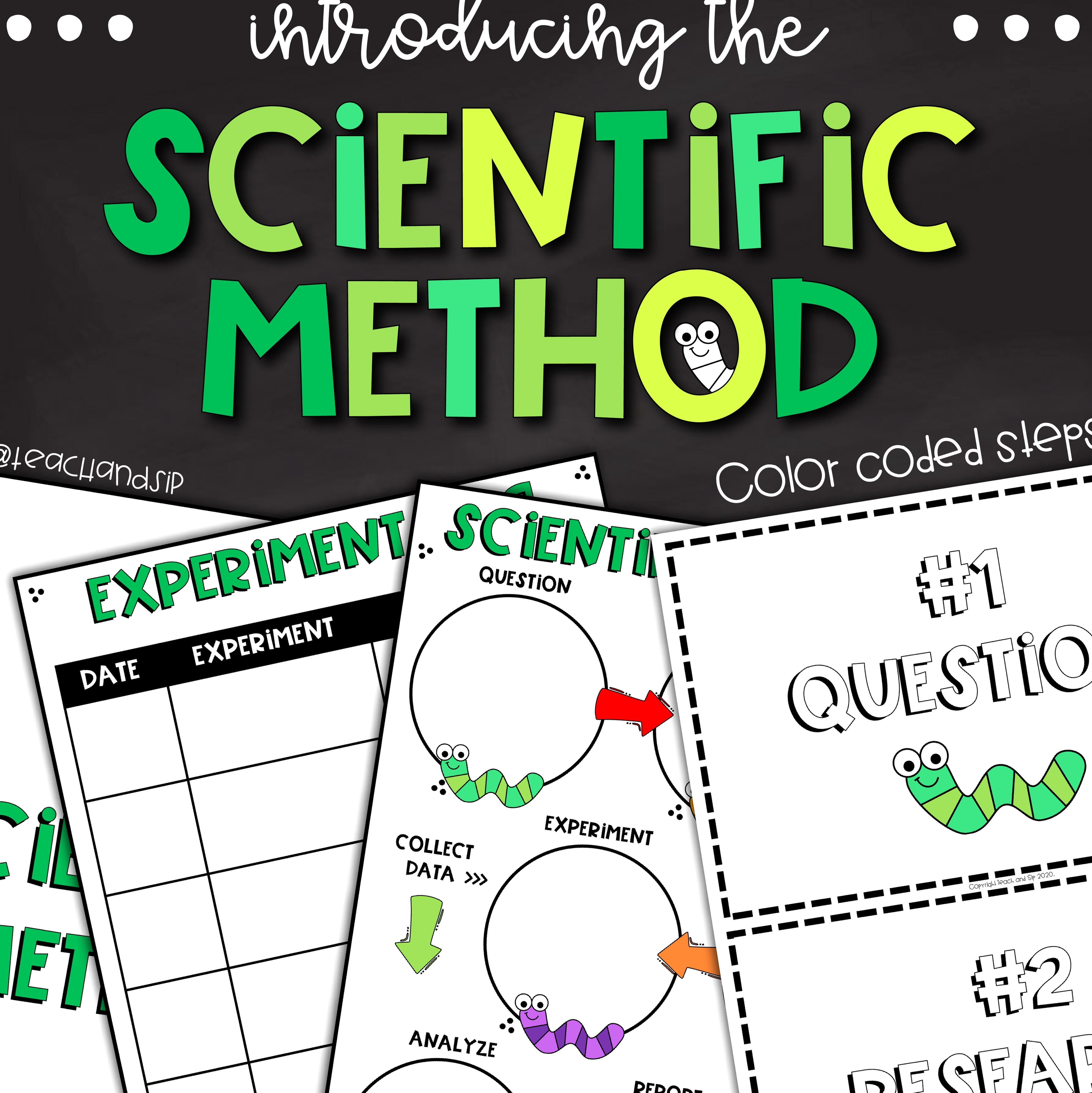 The Scientific Method Printable Editable Worksheets