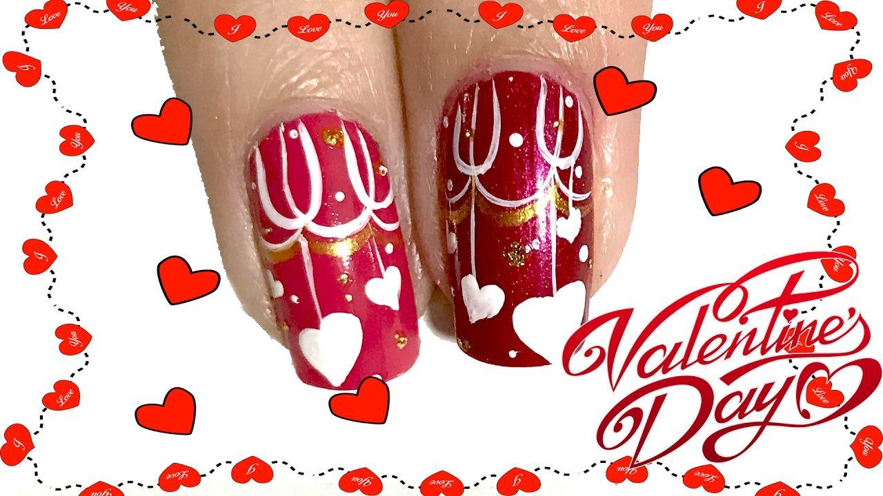 Nail Valentine\'s Day Designs 💕Nail Valentine Vẽ Móng Đi Chơi ...
