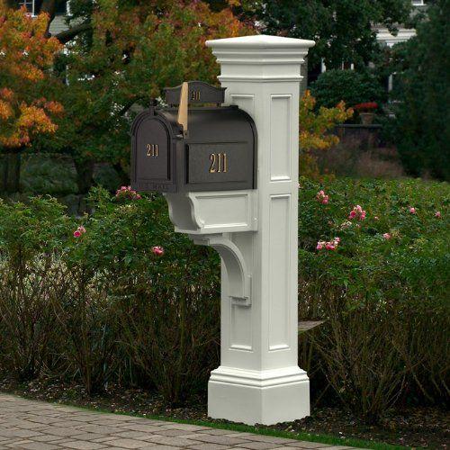 Mayne 5805 Wh Liberty Mailbox Post White Mayne Http Www Amazon Com Dp B00191yha8 Ref Cm Sw R Pi Dp C5lltb11h5g Mailbox Post Custom Mailboxes Classic Mailbox White mailboxes with posts