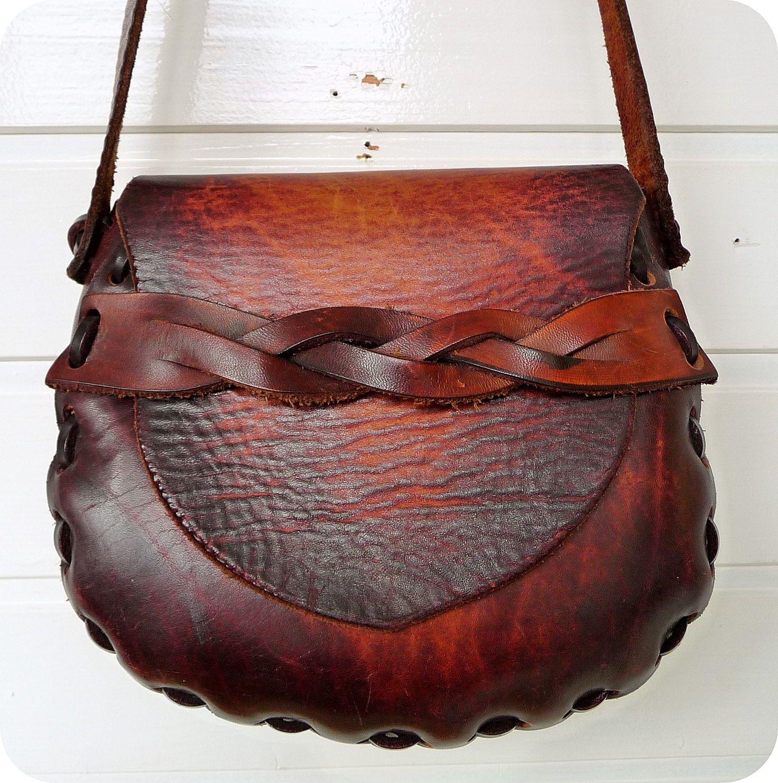 VINTAGE LEDER Saddle Bag Tasche Hippie Schultertasche Umhängetasche Boho Leather | eBay