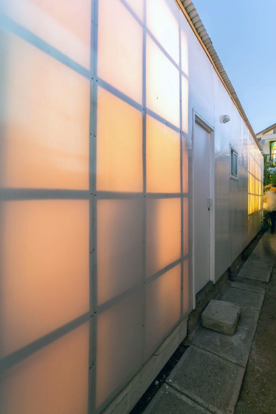 Polycarbonate walls translucent wall exterior structure idea
