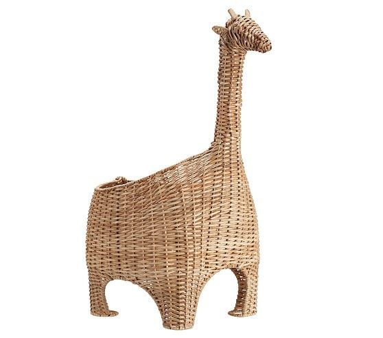 Wicker Effect Resin Giraffe Shaped Ornament Decor Gift Present Safari Animal