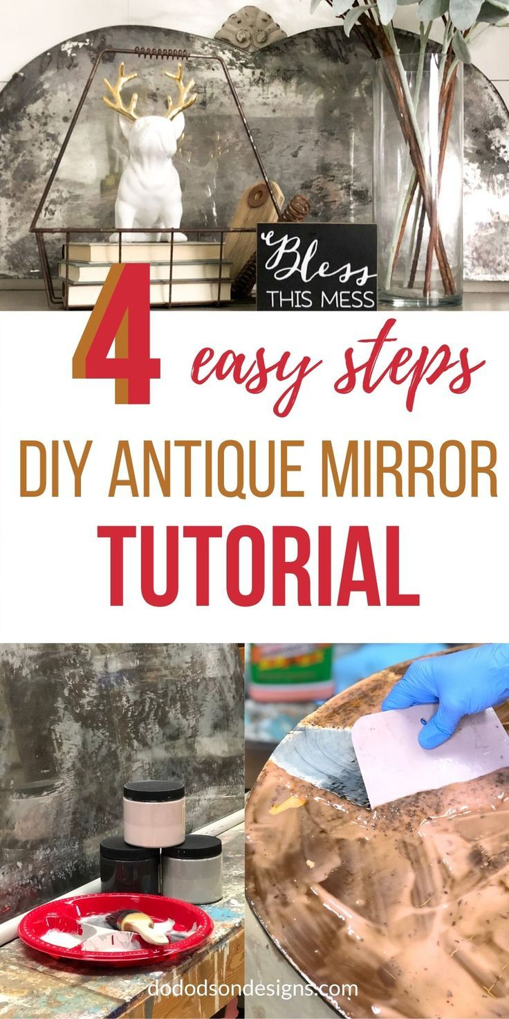 I can't believe how easy this was! The easiest DIY antique mirror tutorial I've ever tried. I will be doing more of these gorgeous mirror makeovers.  #dododsondesigns #mirrormakeover #mirrordecor #diytutorial #antiquedecor