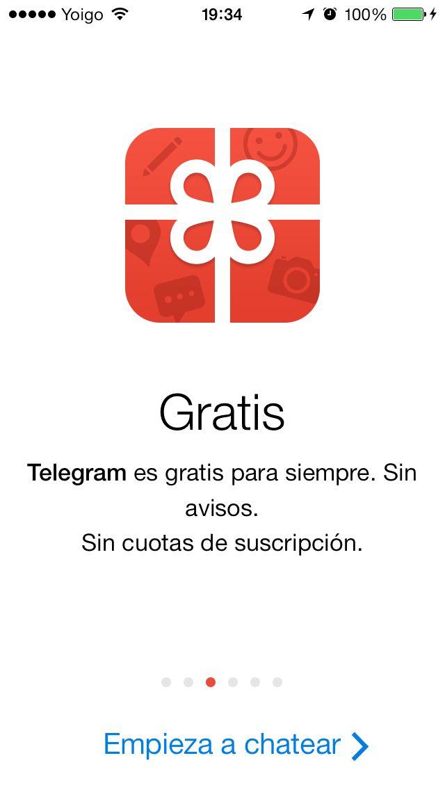 Telegram IOS 7 febrero 2014 -- 3 Slideshow y un único call ...