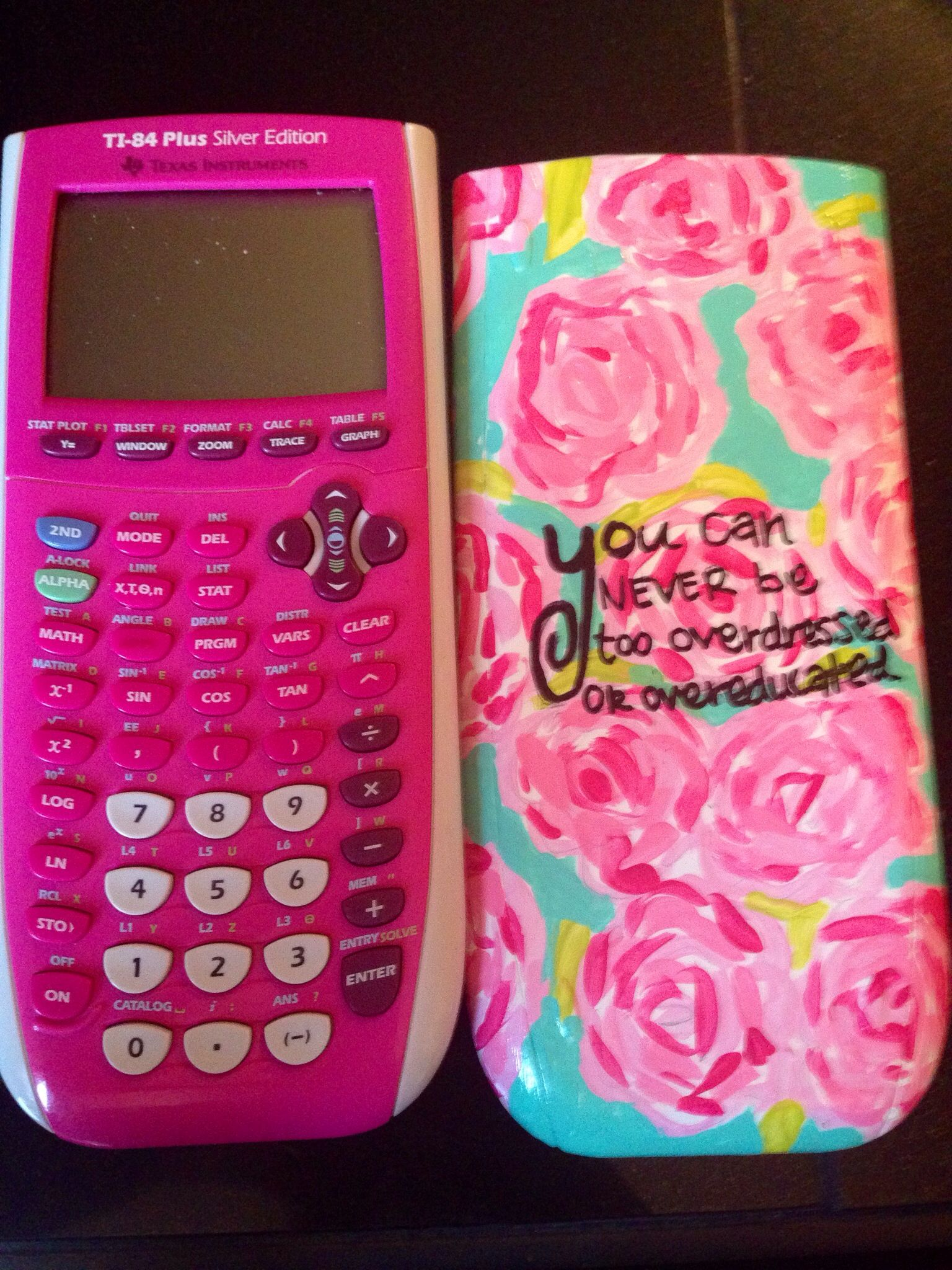 Diy glitter notebook cover - Diy Lilly Calculator Cover