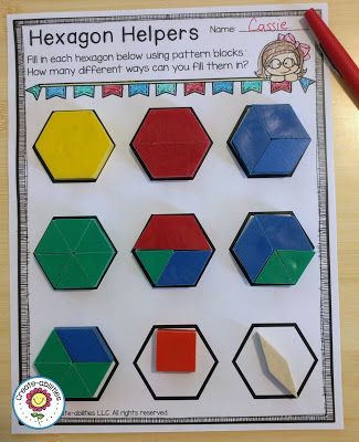 Hexagon Fractions This Free Download Is Great For Your 2nd 3rd 4th Or 5th Grade Classroom Or Homeschool Stu Fractions Fraction Activities Create Abilities Pattern block fraction worksheets