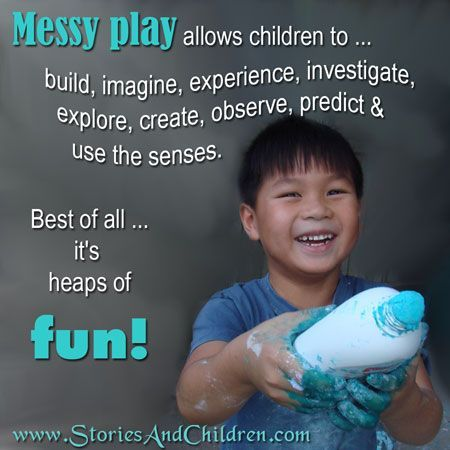 benefits of messy play in early years
