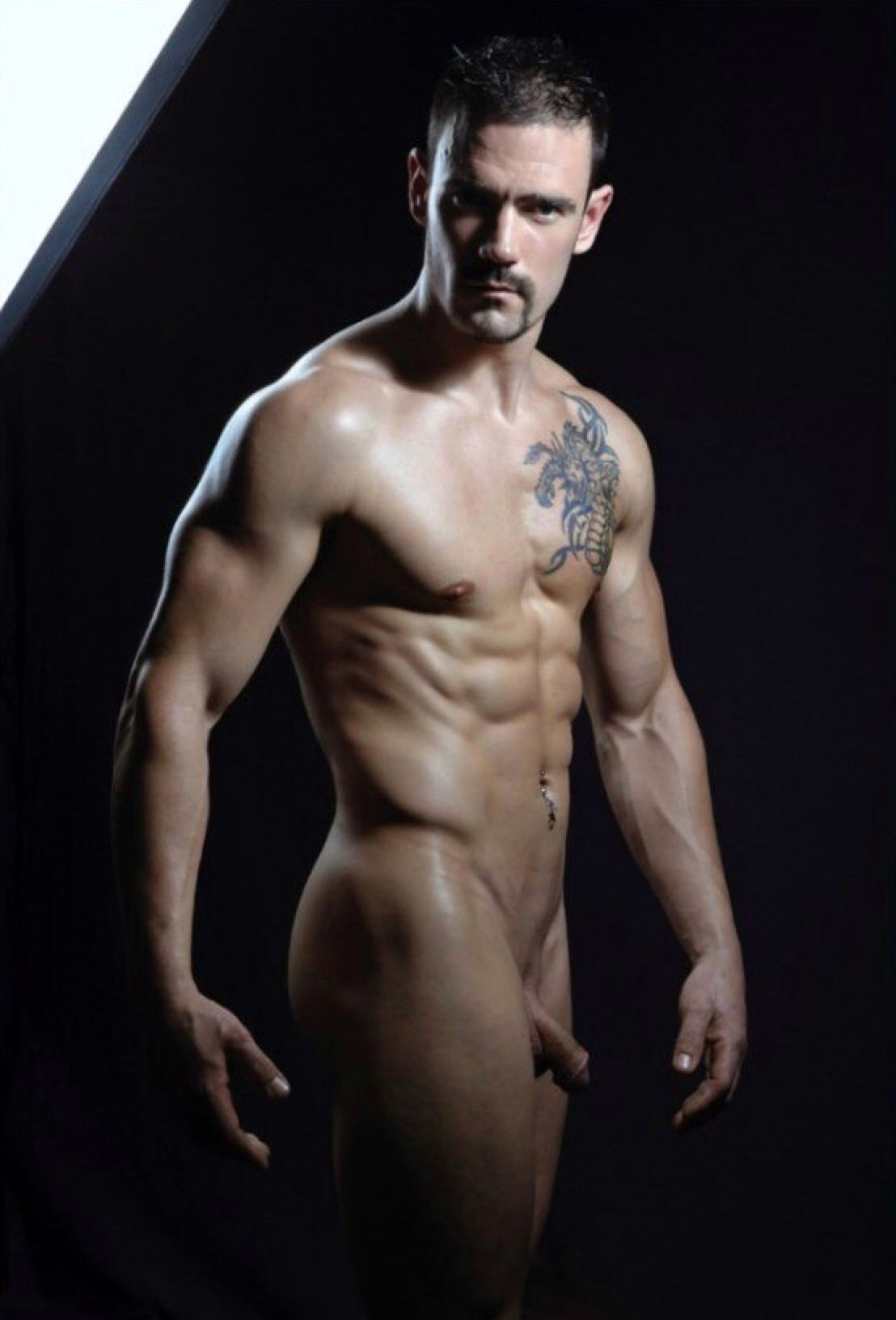 hot male modeling naked