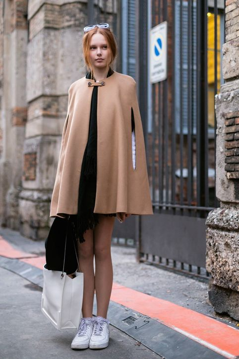Love The Idea of a Winter Cape But Feel Intimidated? No Prob, Here Are 8 Easy Ways to Wear One