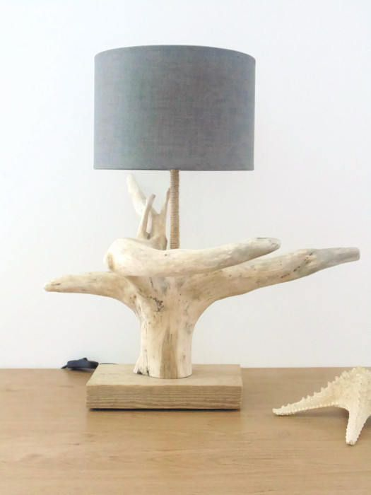 Modele 1 Abat Jour Rectangle Lin Creation Personnelle Unique Et Originale Dune Lampe En Bois Flotte Tres Belle Lampe Childrens Lamps Driftwood Lamp Lamp