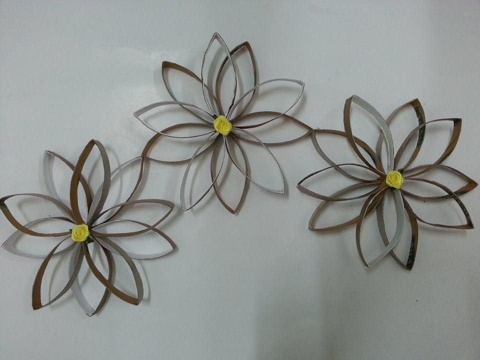 Tutorial 3d Wall Decor With Toilet Paper Roll Cores Diy Ideas