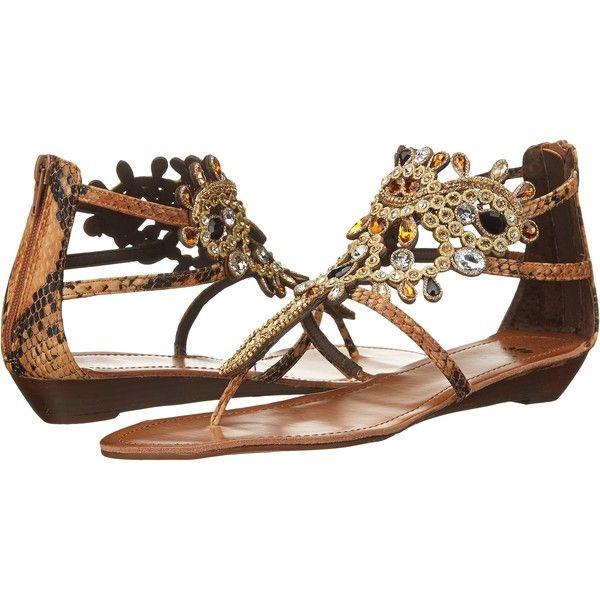 Yellow Box P-Araminta (Brown) Women's Sandals ($50) ❤ liked on