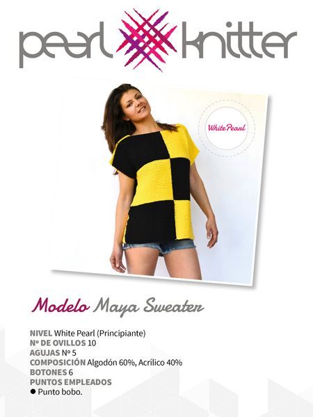 Patrón para Tejer Kit Maya Sweater | Patterns / Patrones | Pinterest ...