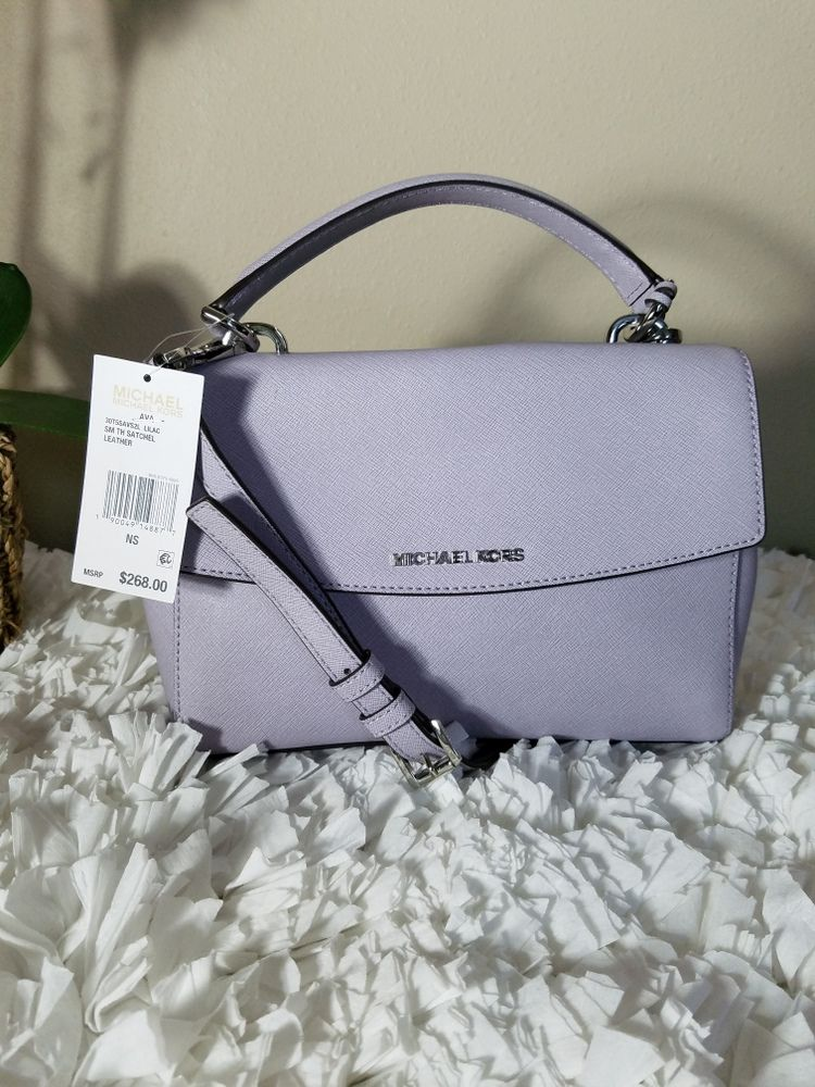 5649c9fee932 Michael Kors Ava Small Top Handle Satchel – Lilac Silver | The ...