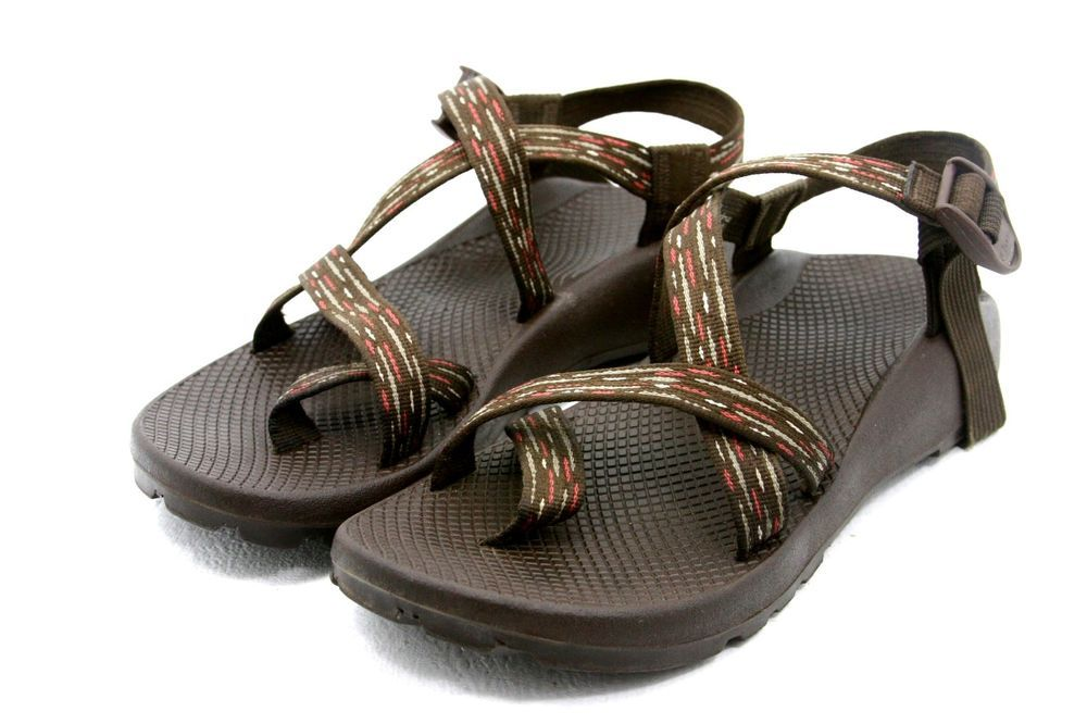087db6adbbde Chaco Z 2 Z2 UNAWEEP Womens Sandals Size 11 brown pink toe Vibram Toe Strap
