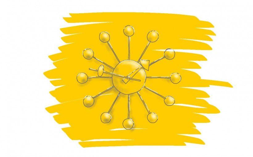 Designklassiker Ball Clock von George Nelson, Vitra, Uhr, Sunburst